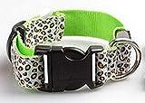 Justierbarer Haustier-Katzen-Hund glühen LED-Leopard-Kragen leuchten leuchtende Nylonumhängeband-blinkende Hundehalsband-Kragen