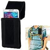 Outdoor Handytasche Schwarz Rucksack Handytasche 17x8,3x3,5cm Smartphonetasche Schutzhülle Jäger für Samsung Galaxy S5 S4 S3 S2 iPhone 5 5S iPhone 4 4S