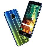 4G Cellulariofferte V mobile J7 5.5'' HD Smartphone Offerta Del Giorno 32GB ROM 3GB RAM Face ID Batteria 5800mAh Android 7 Quad Core 1.3GHz Doppia Fotocamera 8MP 5MP Dual SIM WLAN (Sfumatura Blu)