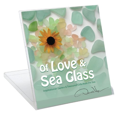 CD Case/Stand Desk Version of Donald Verger's Gift Book: Of Love & Sea Glass: Inspirational Quotes & Treasured Gifts from the Sea - Unique Nature Gifts for Mothers Day Fathers day & Christmas - Black Friday Cyber Monday