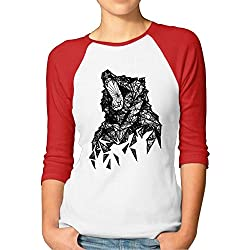 Camiseta Lobo Abstracto geométrico