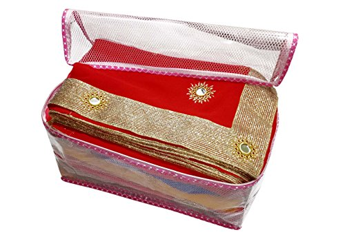 sd enterprises extra large size (With Capacity Of Upto 15 Sarees) set of 1 Piece havy Transparent Net Saree Cover