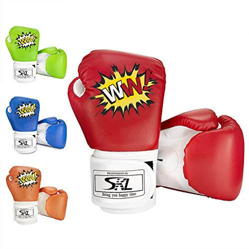 SKL Kinder Boxhandschuhe, Pu Kinder Kinder Cartoon Sparring Boxhandschuhe Training Alter 5-12 Jahre