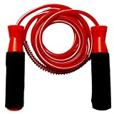 #5: Body Maxx Gym Skipping Rope Foam Grip Handle Bars Red Color