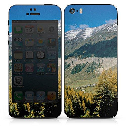 Apple iPhone SE Case Skin Sticker aus Vinyl-Folie Aufkleber Gebirge Huegel Landschaft DesignSkins® glänzend