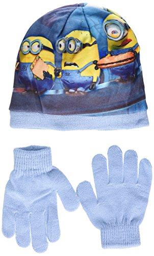 Universal Jungen Ninja Tortlues Tmnt Mütze & Handschuh-Set Minion Bob Rule the World, Blue (L Blue), 2.5 ( Hersteller-Größe 54 )