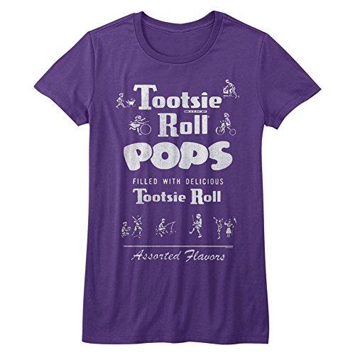 tootsie-roll-des-femmes-vintagetootsie-t-shirt-medium-purple