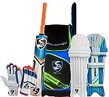 #6: SG Batting Cricket Kit Combo (Ezeepak Kitbag + RSD Spark Kashmir Willow bat, Full Size + Optipro Legguard + Club Batting Gloves)