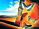 1art1® Posters: Salvador Dali Poster Reproduction - Paysage Aux Papillons (80 x 60 cm)