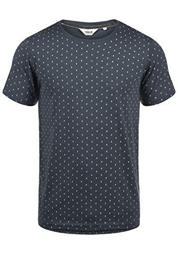 !Solid Aaron Herren T-Shirt Kurzarm Shirt mit Rundhals-Ausschnitt und All-Over-Print, Größe:S, Farbe:Insignia Blue Melange (8991)