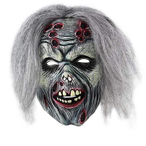 Kostüm Halloween Zu Hause - LPQSY Deluxe Halloween Kostüm Party Latex Vollgesichtsmaske Orror Sorcerer Clown Party Masken for Zu Hause Maskerade Halloween Party Escape Dress Up Party Maske (Farbe : C)