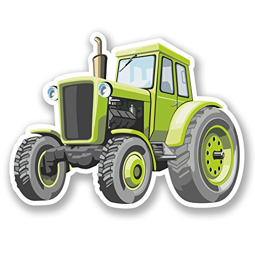 2-x-farm-tractor-vinyl-decal-stickers-ipad-laptop-farmer-kids-cartoon-fun-5434