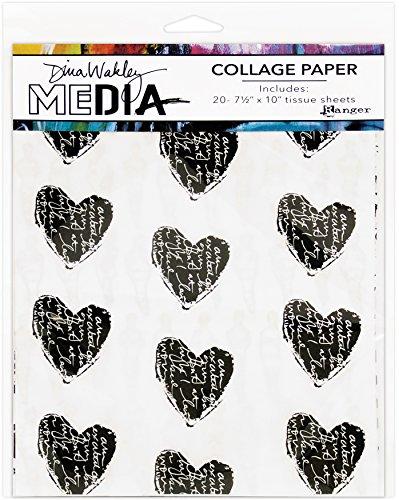 Ranger Dina Wakley Media Collage 19,1x 25,4cm Papier, Mehrfarbig, 29,2x 20,2x 0,1cm -