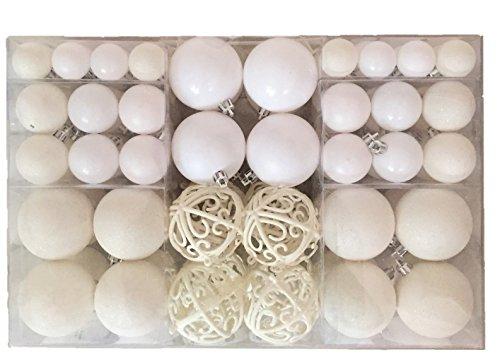 Esclusive sfere per albero di natale set con 100 pezzi colore bianco