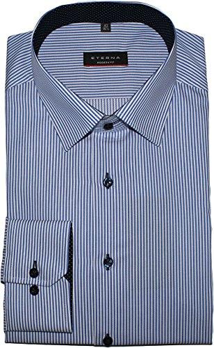 ETERNA long sleeve Shirt MODERN FIT Twill striped azzurro chiaro/bianco