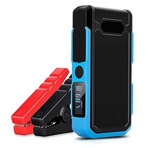 Preisvergleich Produktbild XAJGW Auto-Sprungsstarter,  600A Peak Ampere Portable Jump Starter Pack Volle Unterstützung ALLE Gasfahrzeugmotoren,  bis zu 6.0L Diesel,  18000mAh 12V Autobatterie-Verstärker (Farbe : Blau)