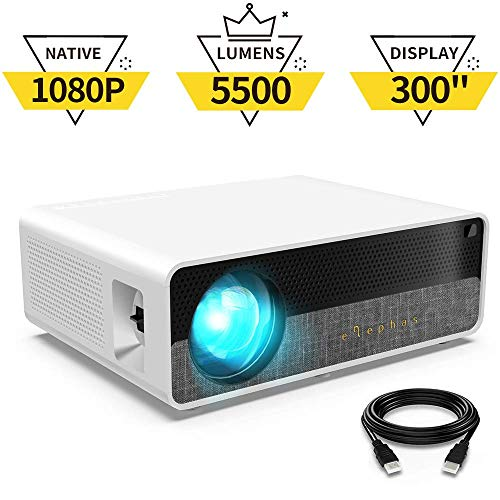 """51%2BWpx9akgL. SS500  - ELEPHAS Projector Q9 Native 1080P HD Video Projector, 5500 Lumens up to 300"""" Image Display Ideal for PPT Business Presentations Home Theater Entertainment Parties Games"""