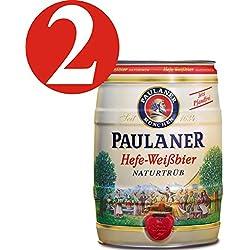 2 x Paulaner Hefe-Weissbier Naturtrüb 5,5% vol 5 litros