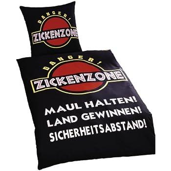 """Global Labels G 99 600 RL6 100 """"Zickenzone"""" Bettwäsche, Renforce, 135 x 200 cm und 80 x 80 cm"""