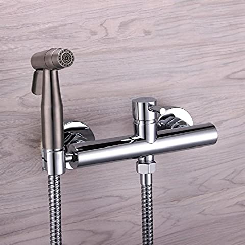 GFEI 304 stainless steel dual mode toilet flush head washer / all copper hot and cold faucet kitchen cleaning gun set