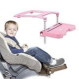 CX TECH Seggiolino Auto per Bambini Pedale per Bambini Seggiolino per Auto Poggiapiedi Salvaguarda Poggiapiedi Supporto Proteggi Cuscino 0-11 Anni Bambino applicabile,Pink
