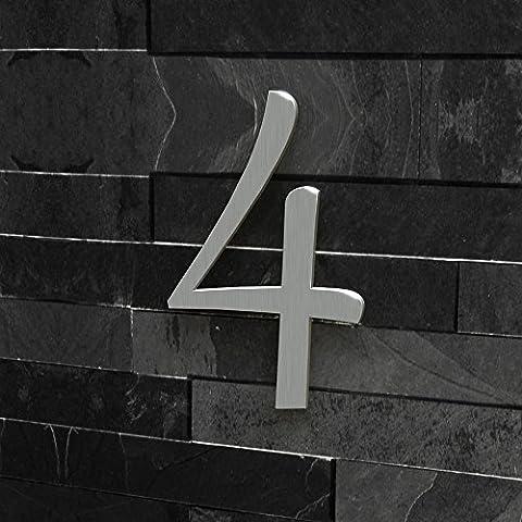 Hausnummer Nr. 4 - Schriftart: Klassisch - Höhe: 20 -
