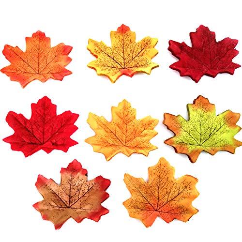 �nstliche Ahornblätter Blätter Herbst Pflanze Im Freien Gemischte Tischdekoration Garten Hochzeit DIY Party Halloween Thanksgiving Deco ()