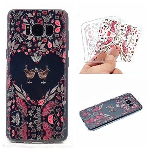 Qiaogle Telefon Case - Weiche TPU Case Silikon Schutzhülle Cover für Apple iPhone 6 Plus / iPhone 6S Plus (5.5 Zoll) - XX34 / Traumfänger XX32 / Couples Vogel