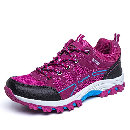 Men's Airmesh Lace Up Lover Outdoor Hiking Shoes pink