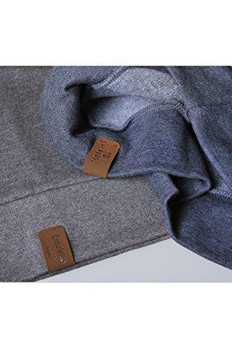 JUMPSTER Turtleneck Damen & Herren EXQUISITE mit Kragen, sehr kuscheliger Sweater, langer Hoodie (slim / regular) Slim Fit Grau M - 5