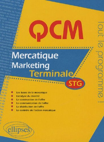 QCM de mercatique (marketing) Tle STG