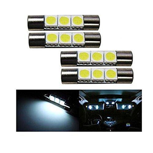 Yuelu (4) 3-smd 29mm 6614F LED lampadine di ricambio per