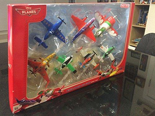 "Disney Planes - 7-teiliges Flieger Set ""Wings around the Globe"" - Arturo, Zed, Dusty, Ned, Ishani, Bulldog, El Chupacabra - Mattel BJT24"