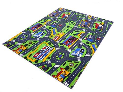 Havelt Teppich Spiel und Spass Kinderteppich (150 x 200 cm, grau)