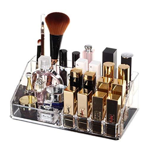 Maquillage Organisateur Boîte de Rangement Grand Maquillage Organisateur Cosmétique de Stockage pour L'affichage de Pinceaux À Maquillage, Rouges À Lèvres, Palettes