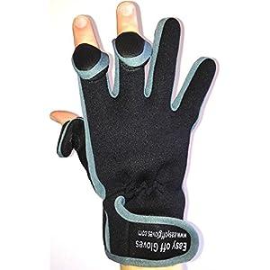 Guanti Neoprene Specialist (punta delle dita ripiegabile) in Velcro da Easy Off Gloves - Ideale per equitazione, caccia, pesca, palestra, Pesistica, Giardinaggio, Fotografia e lavori in generale. Grandi EU 10 (medio)