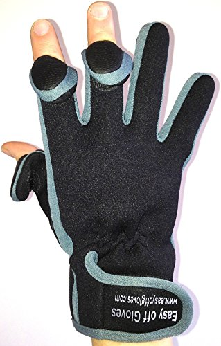Neopren-Spezialist (Fold-Back Finger Tips) Handschuhe von Easy Off Handschuhe - Ideal für Schießen, Angeln, Gewichtheben, Gartenarbeit,...