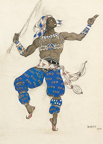 Vintage Ballett Leon Bakst Kostüm Design für Ballett-Hindu, 1912. 250gsm, Hochglanz, A3, vervielfältigtes Poster