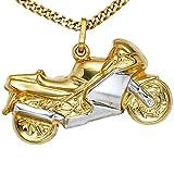 Anhänger 333-G Motorrad Motorradanhänger gold teilrhodiniert Kettenanhänger gold