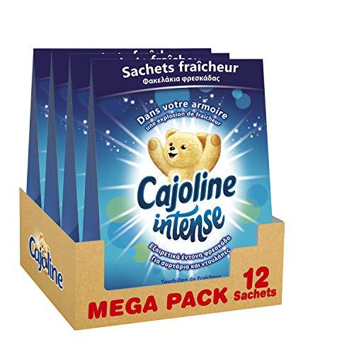Cajoline Intense Sachets Fraîcheur Printanière pour l'Armoire 12 Sachets (Lot de 4×3 Sachets)