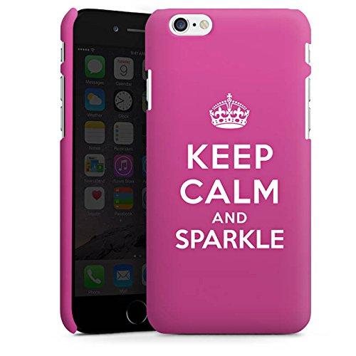 Apple iPhone X Silikon Hülle Case Schutzhülle Keep calm and sparkle Mädchen Sprüche Premium Case matt
