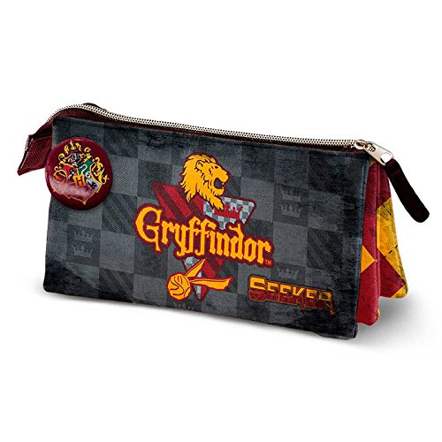 Karactermania harry potter quidditch gryffindor-triple hs pencil case astuccio, 24 cm, rosso (red)