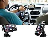 Car Phone Holder, EC Technology Universal Car Mount Holder 360 Degree Rotating for GPS, Smartphones- Black Bild 5