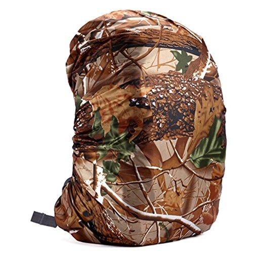 zantec Rucksack Regen Abdeckung verstellbar wasserdicht staubdicht tragbar Ultralight Schulter Tasche Schutzhülle Regenschutz Schutz für Outdoor Camping Wandern 35 Liter Tree camouflage (Regen Stiefel Tragetaschen)