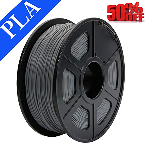 Abcs Printing-Grau Filament PLA 1,75 mm 3D Filament PLA, 1 kg hochwertiges und zuverlässiges 3D-bedrucktes Filament für 3D-Drucker und 3D-Druckstifte (Grau)