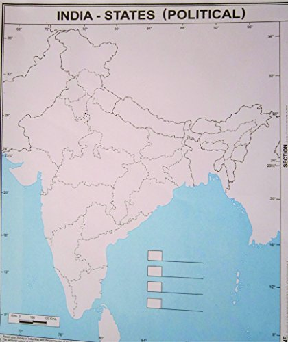 Generic Practice Map India-States(Political)(Set Of 100 Maps)
