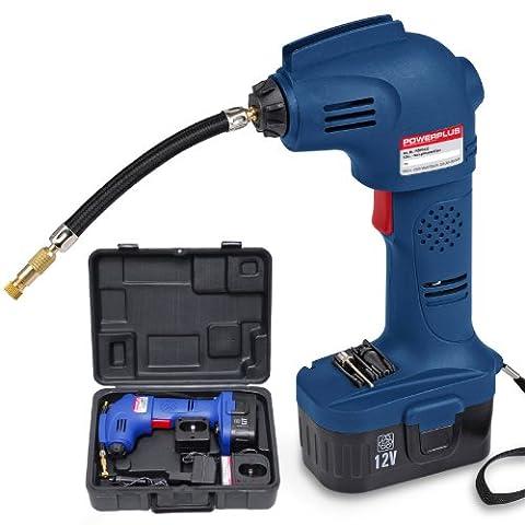 Akku Luftpumpe Druckluftpumpe 12V im Koffer - POW 5623