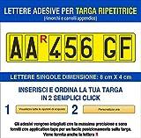 Grafilandia Lettere e Numeri Adesivi per Targa Ripetitrice per rimorchi e carrelli appendice