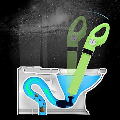 Toiletten-Pömpel, Toiletten Plunger für Toilette Bodenablauf Waschbecken Badewanne Aus ABS-Kunststoff Robust und Langlebig mit 3 Verschiedenen Steckern und 1 Adapter (Grün)