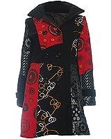 # 602 Damen Designer Patchwork Winter Mantel Trenchcoat Wintermantel 34 36 38 40 42 44